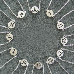 bracelet vierge Promotion Shunyun Vierge / Sagittaire / Verseau / Scorpion / Balance / Capricorne 12 Bracelet Constellation Bracelet Signe Zodiac Personnalisé
