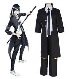 Wholesale Xl Project - Anime K Project K RETURN OF KINGS Yatogami Kuroh Cosplay Costume Full Set Black Uniform ( Trench + Pants + Tie )
