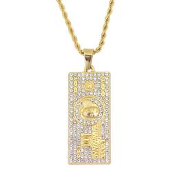 4e4337b30566 Joyería colgante caliente del collar de Hip Hop 100 US Dollar con la cadena  N888 de la cuerda de 24inch cheap dollar chains