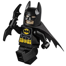 Wholesale Batman Toys Kids - WholeSale 20pcs 2017 Batman Movie Arkham Knight Bruce Wayne SUPER HEROES Justice League Minifig Assemble Building Blocks Kids Toy Gift