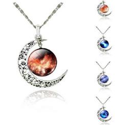 Звезды драгоценных камней онлайн-Горячий стиль европейский и американский мода ювелирные изделия звезда Луна время gem ожерелье световой ожерелье мода классический изысканный
