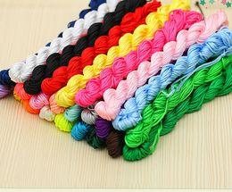 Wholesale nylon beading thread - CHEAP!!! 20rollsx30meters Nylon Chinese Knot Cord for braid Jewelry Beading Thread Macrame Shamballa Bracelet String 1mm