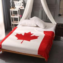 Wholesale Polyester Sofa - British Flag American Flag Canada Multifunction Blankets Soft Fleece Thin Plaid Print Air Sofa Throw Blanket hot Free Shipping