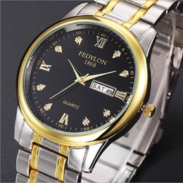 Wholesale Watches For Couples - Hot Couple Luxury watch women mens watches Top Brand Fashion Full Stainless steel Quartz Wristwatches for Men Ladies best gift Free Shipping
