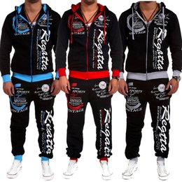 ZOGAA Hombres Chándal Outwear Sudadera con Capucha Set 2 Piezas Otoño  Chándal Deportivo Masculino Sudaderas de Fitness Chaqueta + Pantalones  Conjuntos ... 27ffdbb96c42d