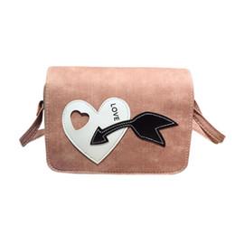 Wholesale Heart Shaped Red Handbag - The latest women's fashion PU leather heart-shaped simple Messenger bag shoulder bag ladies solid color zipper handbag #F