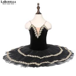 Costumi cigno nero online-Black Swan pre-professionale tutu di balletto costume per bambini costumi di danza contemporanea tutu di balletto bambine bambinoBLST18085