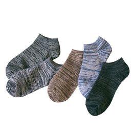Calcetines a rayas de tobillo online-5 pares para hombre Invisible Low Cut tobillo barco calcetines de algodón transpirable sudor 10pcs hombres a rayas calcetines de tobillo 2018 moda calcetín informal