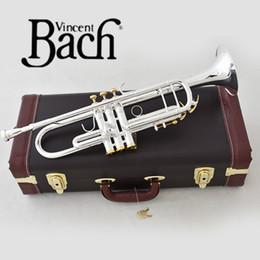 2019 trompa instrumento musical trompete Bach Prata LT180S-72 B flat trumpet bell profissional Top instrumentos musicais chifre de bronze trompa instrumento musical barato