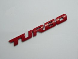 Wholesale Car Wall Vinyl - 1 x Turbo Metal Sticker New Turbo Universal Car Motorcycle 3D Metal Emblem Badge Decal Sticker Wall Stickers