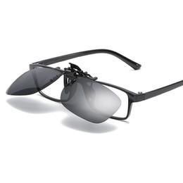 fadb096a59 BULUN Polarized Clip-on Sunglasses Over Gafas graduadas para conducir Pesca  Hombres Miopía Flip Up Night Vision Gafas de sol