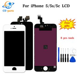 grading panel Coupons - For iPhone 5 5S 5C LCD Display Touch Screen Digitizer Assembly Replacement Parts Grade AAA Tianma Quality No Dead Pixels OEM Screen Panels