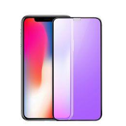 Definición de luces online-Cristal templado curvado 3D de 0.23mm para iPhone X Soft Edge Protector de pantalla de luz azul anti alta definición para iPhone XS