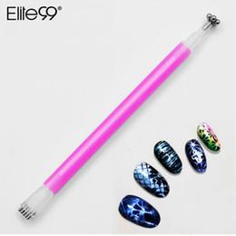 Elite99 Flower Paern Cat Eye Magnetic Sticker Dual-ended Magnet Pen 3D Effect Magnet Stick For Nail Gel Varnish Manicure Tool supplier eye pattern sticker от Поставщики стикер для глаз