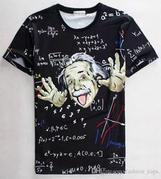 tshirt T-shirt scienza matematica per ragazzo / ragazza T-shirt grafica 3d uomini / donne stampa divertente t-shirt Einstein maglieria casual 1860 da