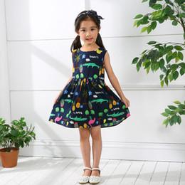 Patrones de vestido de ganchillo online-2018 Vestido para niñas Algodón Princesa linda Vestido sin mangas sin respaldo Crocheted Croc Pattern