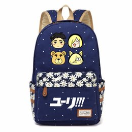 Wholesale Canvas Dots Backpacks For Girls - WISHOT YURI!!! on ICE Victor Cosplay Backpack shoulder Travel Bag for teenagers girls women Canvas dot school bag