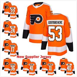 Wholesale Read Orange - Philadelphia Flyers Hockey STARS 53 Shayne Gostisbehere 22 Weise 24 Read 17 Wayne Simmonds 36 McDonald 41 Stolarz 11 Konecny 40 Weal Jersey