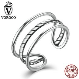 Voroco Crossing Coeurs 925 Argent Sterling Anneau Pour Femme Fashion Jewelry