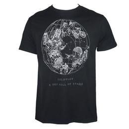 4ddf4c8b5 Authentic COLDPLAY Céu Cheio De Estrelas Logotipo Preto T-Shirt S-2XL NOVO  Homens T shirt de Manga Curta Impressão Casua Impressão T Shirt Para Homens  2018