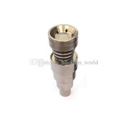 Универсальный Domeless Titanium ногти 10 мм 14 мм 18 мм совместное мужской и женский Domeless ногтей GR2 регулируемый для стекла бонги водопровод Dab буровых установок от