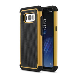 Галактика s4 мини-чехол телефона онлайн-Футбол зерно комбо пластиковый противоударный чехол для телефона чехол для Samsung Galaxy S8 S7 S6 S5 S4 мини гибридный чехол