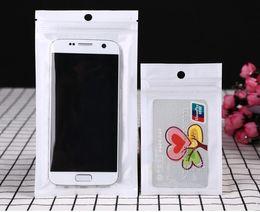 Wholesale White Pearls Buy - (buy 2 lot free send 1 lot) 9*15cm clear + white Pearl Ziplock Bag USB Data Cable Headphone Transparent Plastic Bag 100pcs