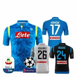 Champions League 18 19 napoli soccer jersey home away black 2018 2019 Naples  ZIELINSKI HAMSIK INSIGNE MERTENS CALLEJON ROG champions 7780bc7bb