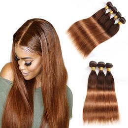 Ombre Brezilyalı İnsan Saç Paketler Fiyatları Renkli Düz ve Vücut 4/30 # Koyu Kahverengi Bakire Saç Örgü Iki Ton Saç Atkı Uzantıları supplier ombre hair weave virgin nereden ombre saç örgüsü bakire tedarikçiler