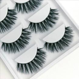 Wholesale lash extension kits wholesale - 5 pairs per box 100% Real Mink Eyelashes 3D Natural False Eyelashes 3d Mink Lashes Soft Eyelash Extension Makeup Kit