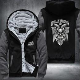 2019 veste d'hiver hommes usa Nouveau Harley Vestes et Manteaux D'hiver Fate Zero Sweat À Capuche Anime À Capuche Épais Zipper Hommes Sweat-shirts USA Taille veste d'hiver hommes usa pas cher