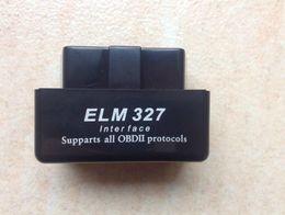 Wholesale Black Jaguars - ELM327 BT Bluetooth OBD2 Wholesale Black Blue White Super Mini Bluetooth OBDII Elm327 Support All Obdii V2.1 Torque