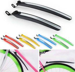 Guardias de carrera online-Racing Bike Fenders Ciclismo Fixed Gear frente guardabarros trasero guardabarros Fender Wings Set 5 colores envío gratis