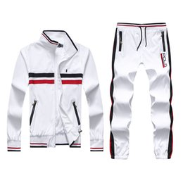 Wholesale High Neck Turtlenecks - Men's Hoodies and Sweatshirts Sportswear Man Polo Jacket pants Jogging Jogger Sets Turtleneck Sports Tracksuits Sweat Suits