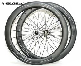 jantes en carbone en forme de u Promotion Paire de roues en carbone HED, roue en carbone de vélo de route 700C, roues tubulaires de 60 mm, jante en U de largeur 25 mm