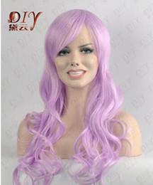 2019 длинный светло-фиолетовый парик Бесплатная доставка ++++ Curly Light 24