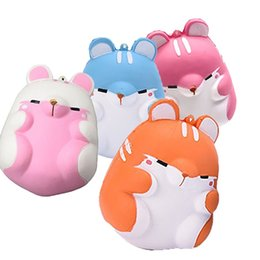 Wholesale Wholesale Decorations For Home - Hot Kawaii Soft Squishy Colorful Simulation Hamster Toy Slow Rising for Relieves Stress Anxiety Home Decoration