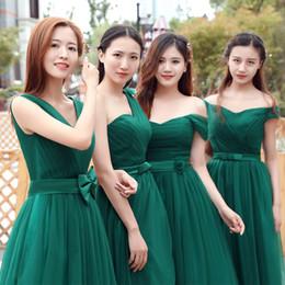 Wholesale Green Gauze Dress - New Korean Bridesmaid Dresses Long White Dresses Choir Sisters Shouwan Dress Costumes Green A Gauze Bridesmaid Dresses
