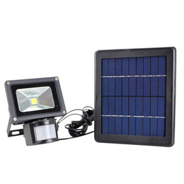 Wholesale New Wall Lights - Upgraded new arrivals Ultra Bright 5W Cool White Solar LED Floodlights Motion Sensor Security Solar Light Outdoor Garden wall Spotlights
