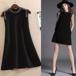 Mode 2018 marque une pièce de la robe des femmes de la marque designer robe chic robes de piste Diamond Beads robe de réservoir de luxe noir rouge XL XXL 84749 ? partir de fabricateur