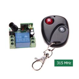 Transmisor de 315 mhz receptor online-DC12V 10A 315MHz Transmisor de interruptor de control remoto inalámbrico con receptor de control remoto