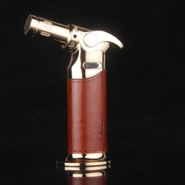 Wholesale Windproof Cigar Torch Lighter - 1300C Metal Dab Jet Butane Torch Lighter Windproof Micro cigarette cigar Torch Lighter Professional Kitchen Torch Lighter free shipping