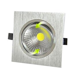 Wholesale 12v Downlights - Newest square Led Recessed ceiling lights non-dimmable DownLights 10w cob Fixture Lights Lamp 110v 240v or 12v Warm White 3000k CE UL
