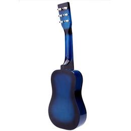 """chitarra jumbo palissandro Sconti blu 23 """"Mini Guitar Guitar per chitarra acustica per bambini con corda 1a corda"""