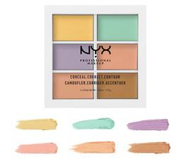 paleta completa Desconto DHL grátis NYX 6 cores Profissional Face Contorno Maquiagem Concealer Palette Concealer fundador branqueador make up full cover woman cosmetic