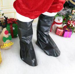 trajes de fantasia de santa Desconto Bota de Papai Noel Cobre homens mulheres Natal Fancy Dress Costume cospaly Santa Claus Tampa de Sapato Decoração de Natal LJJK1069