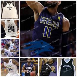 1ff08901c89 NCAA Nevada Wolf Pack #2 Corey Henson 42 K.J. Hymes 22 Johnson 40 Vincent  Lee 10 Caleb Martin College Basketball Jerseys