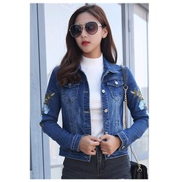 ca7b95d977 Nova Primavera jaqueta jeans denim das mulheres jaqueta curta seção plus  size cultivando estudantes bordado Feminino coat64
