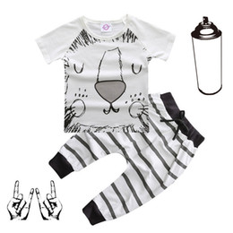 181521ece6 Wholesale Baby Boy Summer Clothing Cotton Fashion 2pcs Suit Lion Batman Newborn  Clothing Set Baby Gift Infant Clothing Bebe Suit