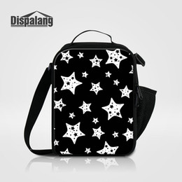 Wholesale Insulated Lunch Bag Black - Children School Lunchbox Thermal Insulated Lunch Bags For Women Girls Lovely Black Stars Boys Insulation Lunch Box Picnic Food Bolsa Termica